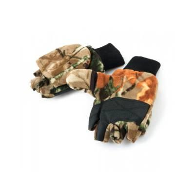 Рукавицы-перчатки Tagrider 1063 флис с обрезанными пальцами КМФ