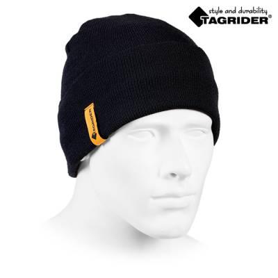 Шапка Tagrider Expedition 3006 вязаная на флисе черная
