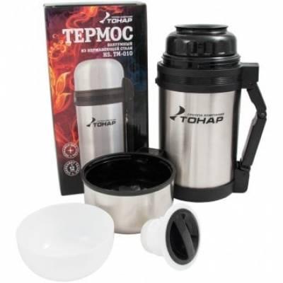 Термос HS.TM-010 1000ML (дополн. пласт. чашка, скл. ручка, ремень) TONAR