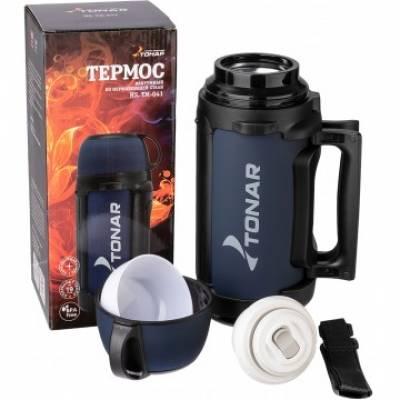 Термос HS.TM-041 1400ML (дополн. пласт. чашка, скл. ручка, ремень) TONAR